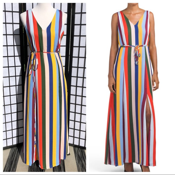 453588fb9236 Belle Vere Dresses | Rainbow Stripe Maxi Spring Dress | Poshmark